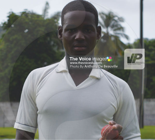 img: Left arm fast bowlers Dillan John picked up a career best 6 wickets for 16 runs versus South Castries. D'Mii Charles. (PHOTO: Anthony De Beauville)