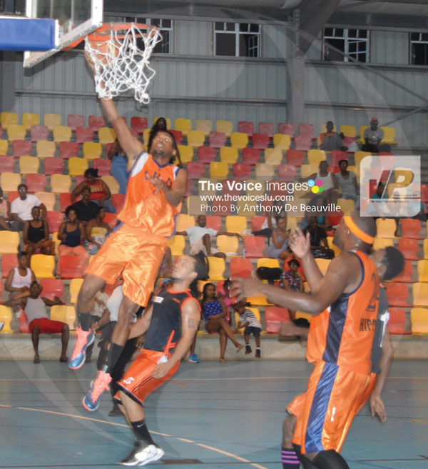 img: IRD Husslers had a comfortable 78-60 win over Massy Stores on Saturday night ( Photo Anthony De Beauville)
