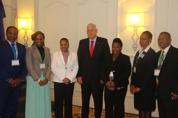 img: Prime Minister Allen Chastanet at the opening of the Regional Law Conference with members of the local and regional bar associations.