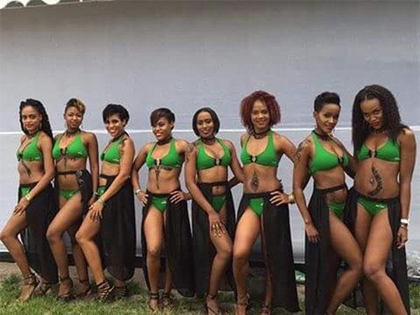 img: Some of the Heineken ladies.