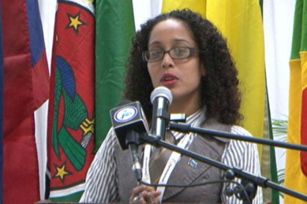 img:One of Ms Alisha Ally's first assignments is coordination of the CARICOM Reparations Baton Relay planned for Octobr 29 to coincide with a Jounen Kweyol Reparations Youth Rally on Derek Walcott Square in Castries.