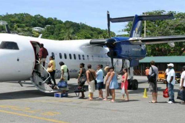 Image: Passengers boarding LIAT.