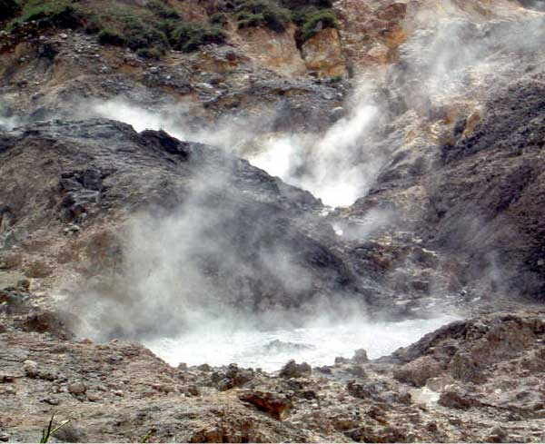 Image: The volcanic Sulphur Springs