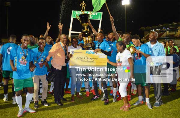 Image: Vieux Fort South celebrate. (PHOTO: Anthony De Beauville)