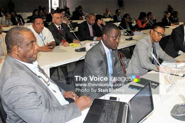 Image: CARICOM delegates are concerned about the slow pace of the Paris Agreement's adaptation phase. [PHOTO: Stan Bishop]