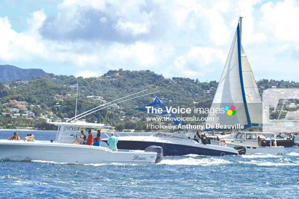 Image: Flotilla participants heading to IGY Marina. (Photo: Anthony De Beauville)