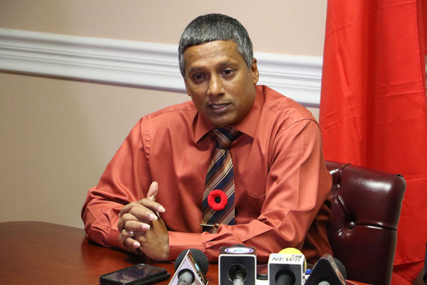 img: Parliamentary Rep. for Castries South-East, Guy Joseph, at Monday's signing ceremony.