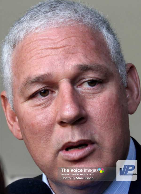 Image of Prime Minister Allen Chastanet. [PHOTO: Stan Bishop]