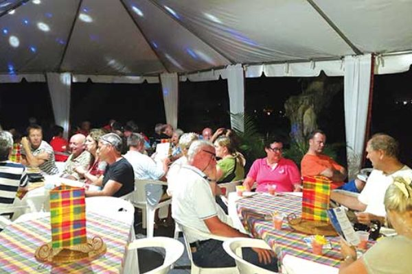 Image: Regatta participants taking in an evening of entertainment