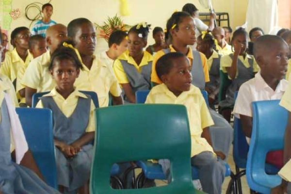 Image: Students of the Vieux Fort Special Education Centre.