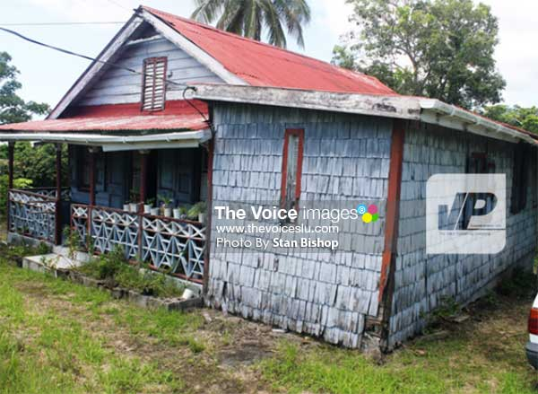 Image: The old wooden cottage at La Fargue where Depradine spent much of her childhood. [PHOTO: Stan Bishop]