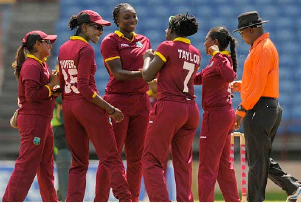 Image: The trumphant West Indies Women's team.