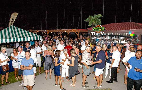 Image: ARC+ participants at Sunday evening welcome party at the IGY Rodney Bay Marina (Photo Isabelle Sankar)