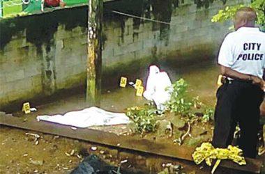 Image: Crime scene of Thursday's fatal shooting.