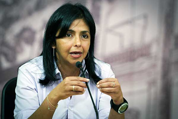 Image of Venezuela's foreign minister, Delcy Rodriguez