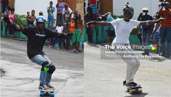 Image: (L-R) Saint Lucian's Kwane Francis and Amarcisse Alexander (Photo: Anthony De Beauville)