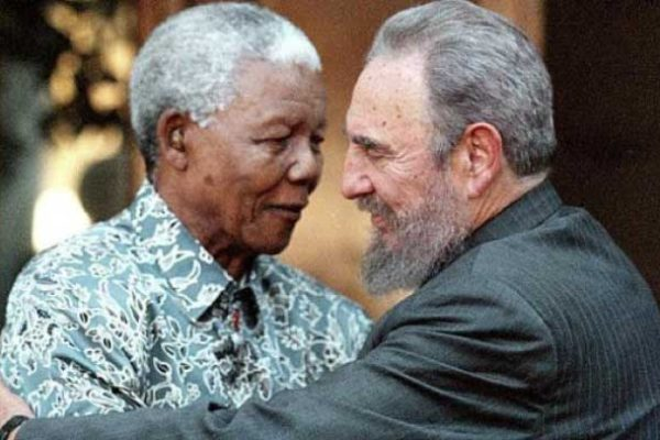 Image of Mandela and Castro