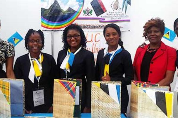 Image: Members of Choiseul Secondary's Crafty Unique Creations in Mexico.