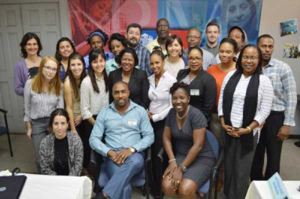 Image: The OECS nationals who went on the tour.