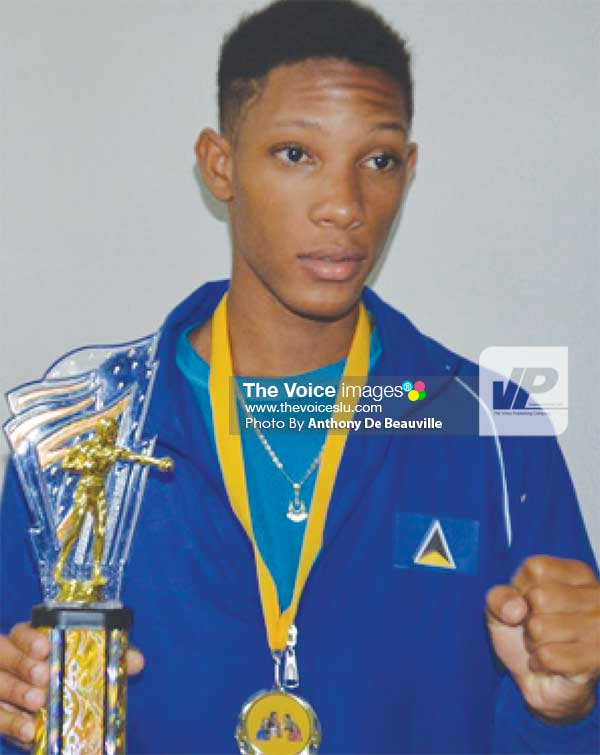 Image: Best Boxer of the Championship Omar Christopher. (Photo: Anthony De Beauville)