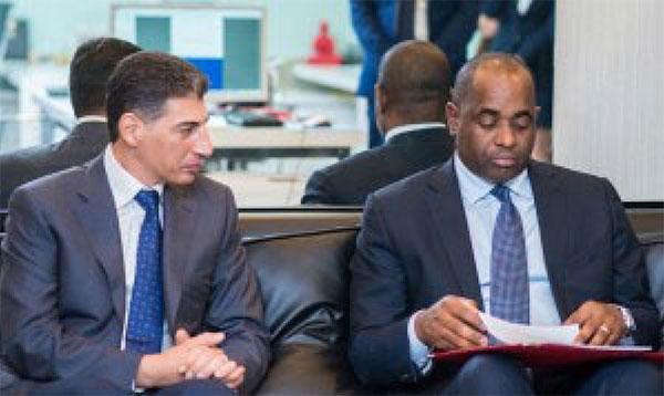 Image: Ali Reza HalatMonfared and Prime Minister Roosevelt Skerrit.