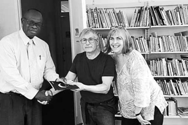 Image : Dr.Breslin, with Marion Nelson and Hilary La Force of the FRC on a recent visit.