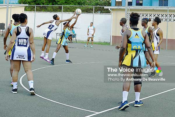 Image: Some of the action between host Saint Lucia and Saint Martin in the three-match series. ( Photo: Anthony De Beauville)
