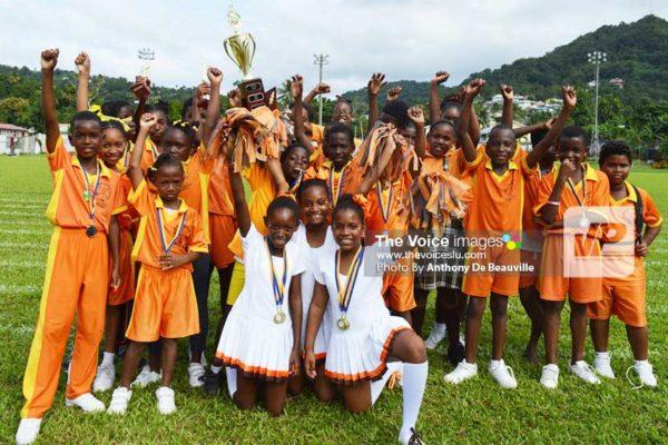 Image: Champion team Walcott House celebrates. (PHOTO: Anthony De Beauville)