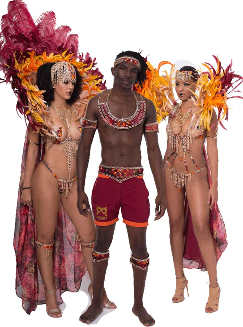 """Image: Costumes for the """"Desert night"""" section."""