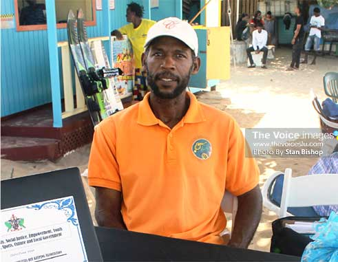 Mark Remy at last month's marketplace activity hosted by Bay Gardens Resorts. [PHOTO: Stan Bishop]