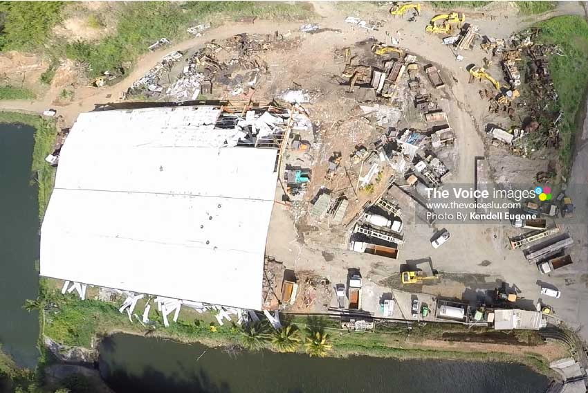 Image: An aerial view of the quarry site [PHOTO: Kendell Eugene]