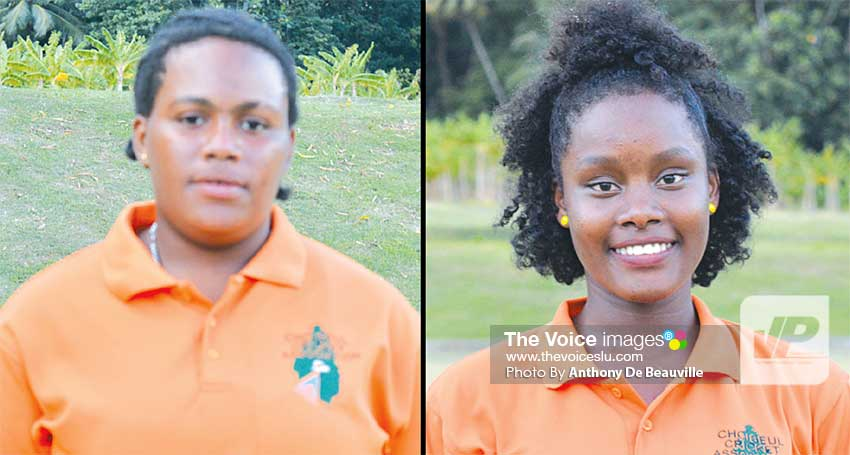 Image: (L-R) Choiseul batters Allyah Cooper 28 and Shermika Cooper 22. (Photo: Anthony De Beauville)