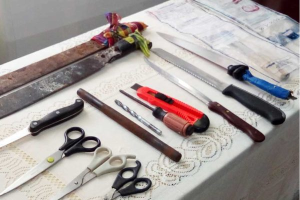 Image: Weapons from students.[PHOTO: By PhotoMike]
