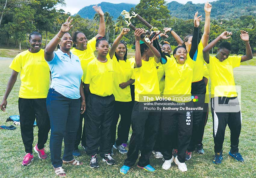 Image: Winning team South Castries celebrate. (PHOTO: Anthony De Beauville)