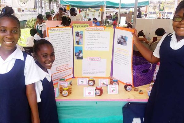 Image: Ave Marie Girls Primary with their Vegetable Jam