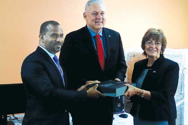 Image: DPP Greene, PM Chastanet and Ambassador Tagliatatela.