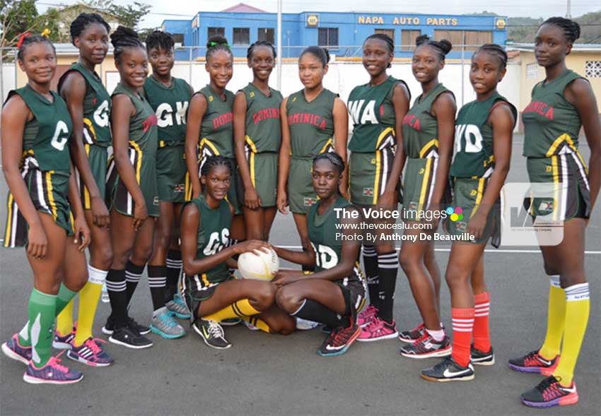 Image: Dominica National Under–16 netball team.   (PHOTO: Anthony De Beauville)