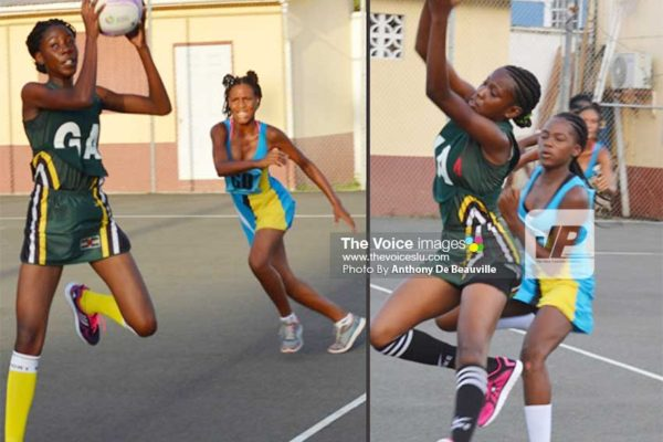Image: (L-R) Dominica in control against Saint Lucia. (PHOTO: Anthony De Beauville)