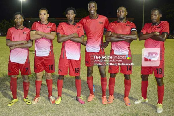 Image: (l-r) Jarvis Joseph, Valdez Maximin, Andrus Remy, Fegurson St. Clair, Lincoln Phillip and Ahmed Chandler. (Photo: Anthony De Beauville)