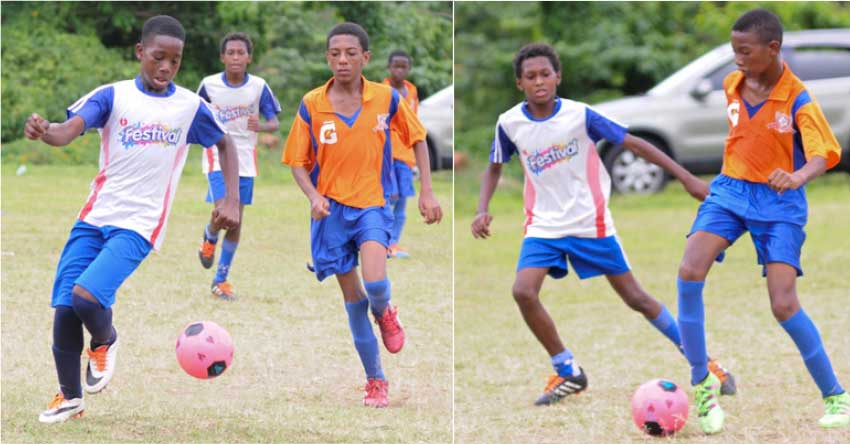 Image: Game scenes between Big Players and Valley Soccer played on Saturday. (Photo: DP)