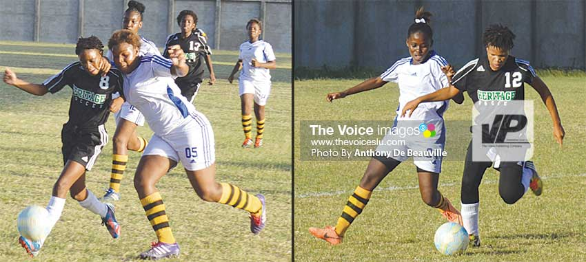 Image: Marchand and Soufriere in semifinal number one.  (PHOTO: Anthony De Beauville)