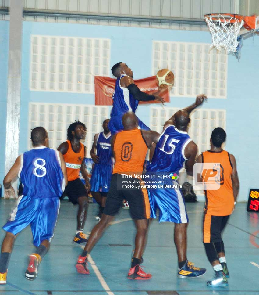 Image: The Police team in blue is expected to fly high against Dennery at 5:00 p.m. (Photo: Anthony De Beauville)