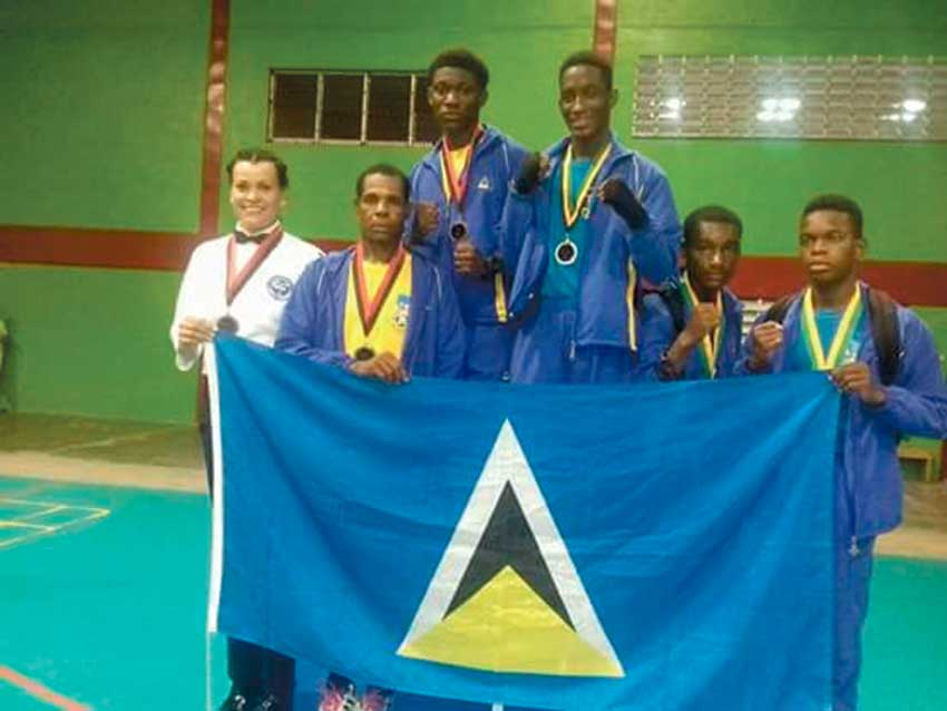 Image: The Saint Lucian boxing contingent.