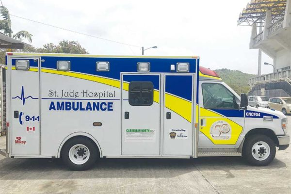 Image: The recently-acquired ambulance.
