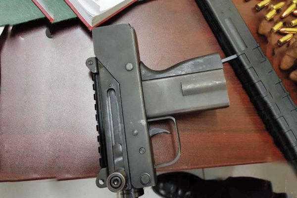 Image: A firearm seized by police last week. [PHOTO: PhotoMike]