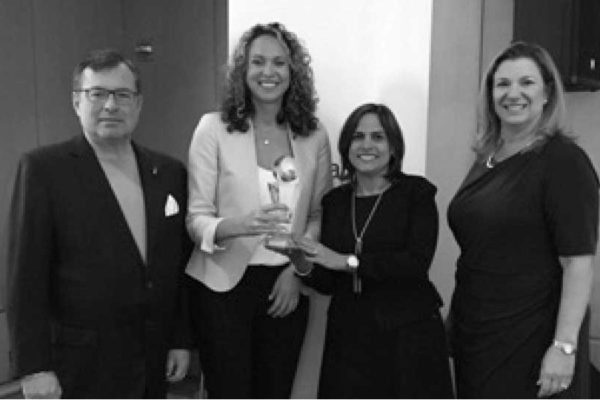 Image: (From left to right): Peter Vittori, Managing Director Sales – Florida, US Latin and Caribbean, American Airlines; Danielle St. John, Chief Operating Officer, Going Places Travel; Marvin Alvarez Ochoa, Manager Caribbean Sales and Christine Valls, Regional Sales Director – Florida, US Latin and Caribbean, American Airlines.