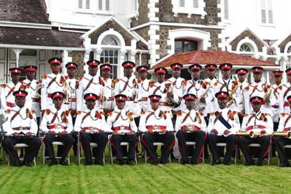 Image of the Royal Saint Lucia Police Band