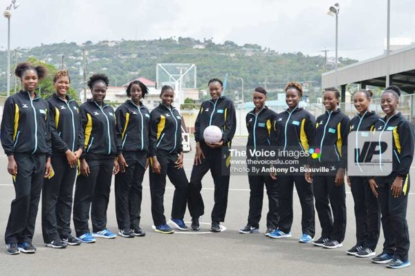 Image: Team Saint Lucia is currently in Grenada for the OECS Under-23 Netball Championships. (Photo: Anthony De Beauville)