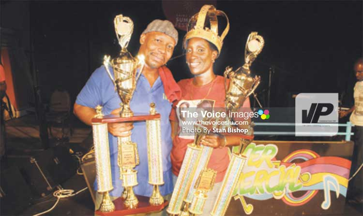 Image: Spoiler and Lilly with their trophies.