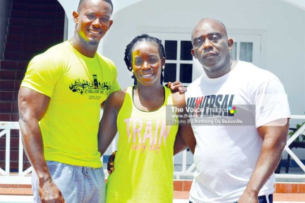 Image: (L-R) Barbados Trio Ramon Dodson, Shakira Doughlin and Roger Boyce.(PHOTO: Anthony De Beauville)